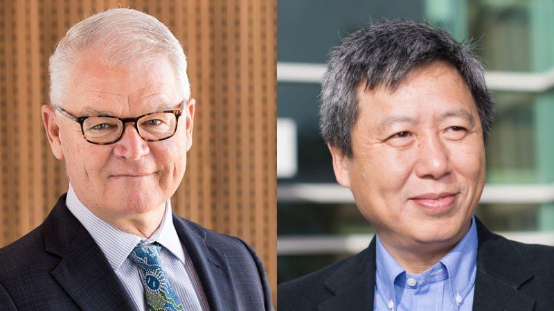 Professor Jim Watterston and Professor Jong Zhao